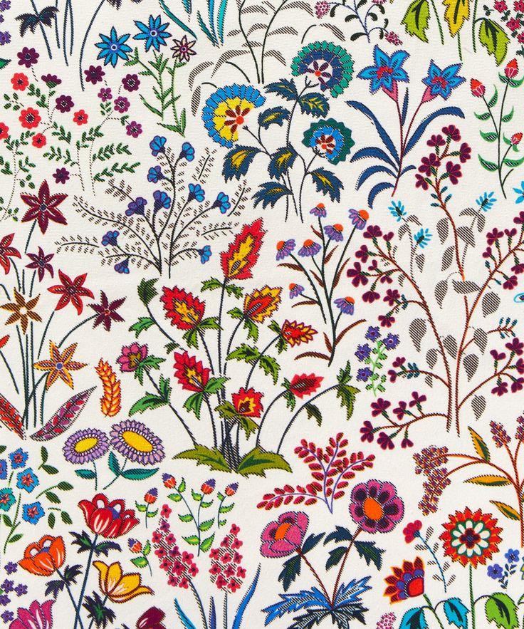 Liberty Art Fabrics Shepherdly Flowers in Exotic Cotton Cushion | Home | Liberty.co.uk