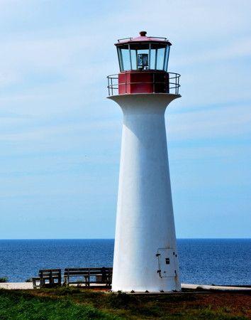 Phare du Cap aux Meules, Étang-du-Nord. Îles de la Madeleine, Québec