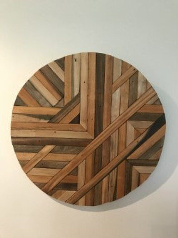 Reclaimed Wood Wall Art Circle Round Design In 2019 House