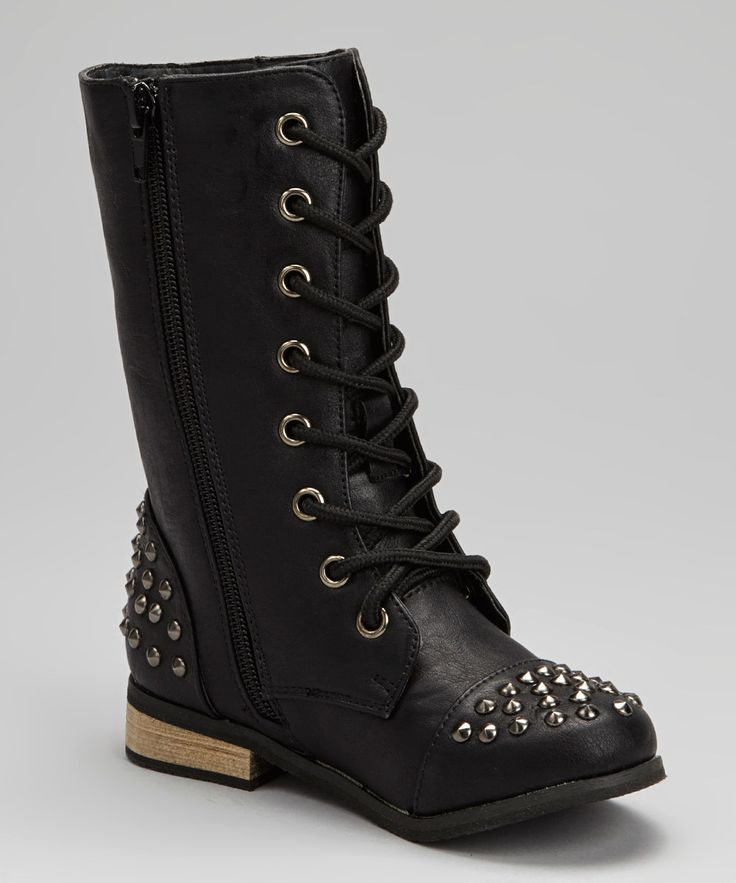Black Studded Abby Boot | zulily