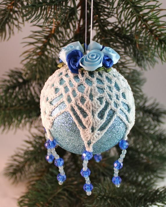 Pin By Drapedinlace On Items Currently For Sale At Draped In Lace White Baubles Blue Baubles Christmas Decorations