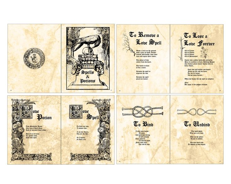 Harry Potter Book Cover Template : Printable witches spell book pages free doll