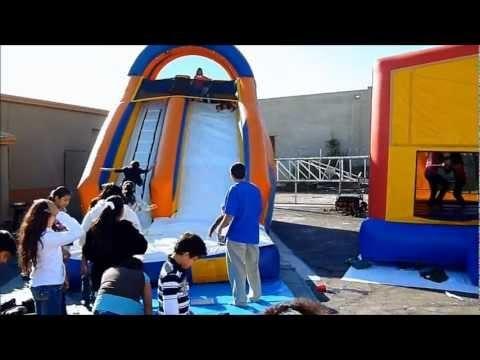 Video of inflatable water slide and dry slide rentals in phoenix Az.