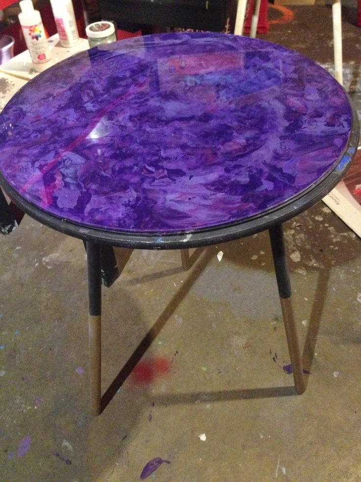 Table Top I Painted Last Night To Celebrate Redoing My Shop : ) (reverse  Glassu2026