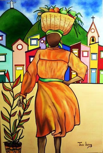 naive arrt tropical | ... Tropical Art - Negritude Do Campo Fine Art Prints and Posters for Sale