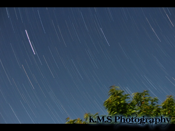 Star-trail, 30min, Upper moutere, Nelson New Zealand