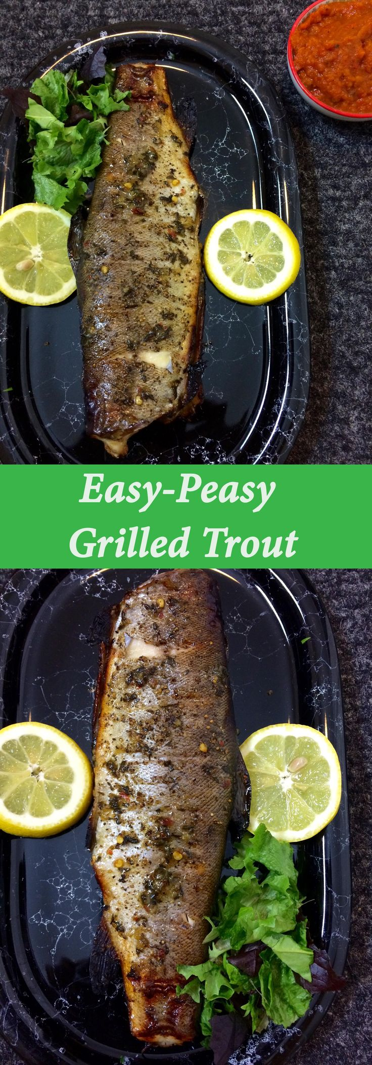 A herbed and spicy grilled trout recipe that's bound to become your go-to fish recipe. Minimal fuss recipe and ready in under 20 minutes. Both gluten-free and dairy-free. Afro-fusion food blog | African food blog.