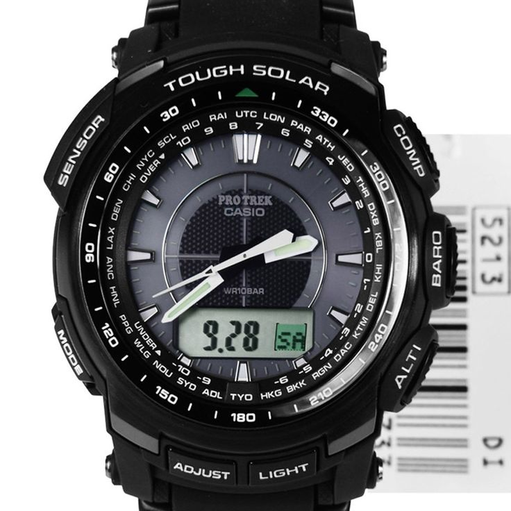 Casio Protrek Tough Solar Triple Sensor Sports Watch PRG
