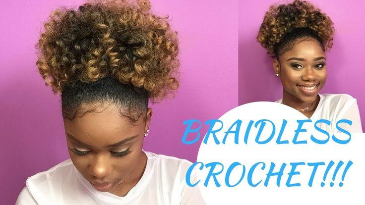 BRAIDLESS CROCHET - HIGH PUFF || Jamaican BOUNCE Crochet Braiding Hair [Video] - https://blackhairinformation.com/video-gallery/braidless-crochet-high-puff-jamaican-bounce-crochet-braiding-hair-video/