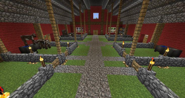 I decided I needed a barn for my animal farm : Minecraft