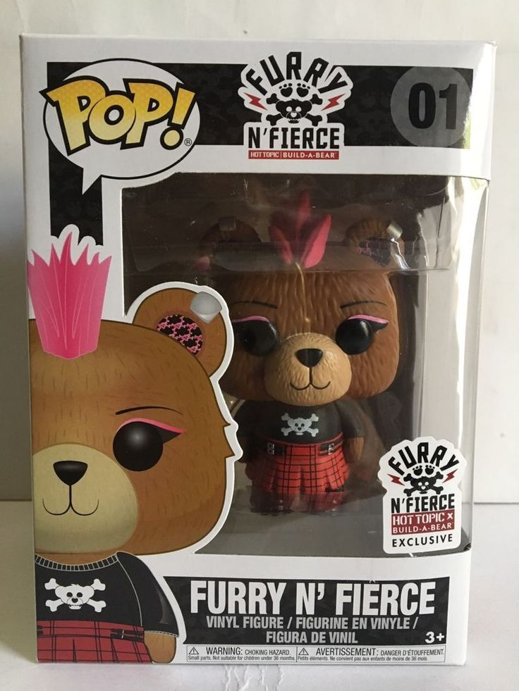 Funko Pop Furry N Fierce Hot Topic Build A Bear Exclusive