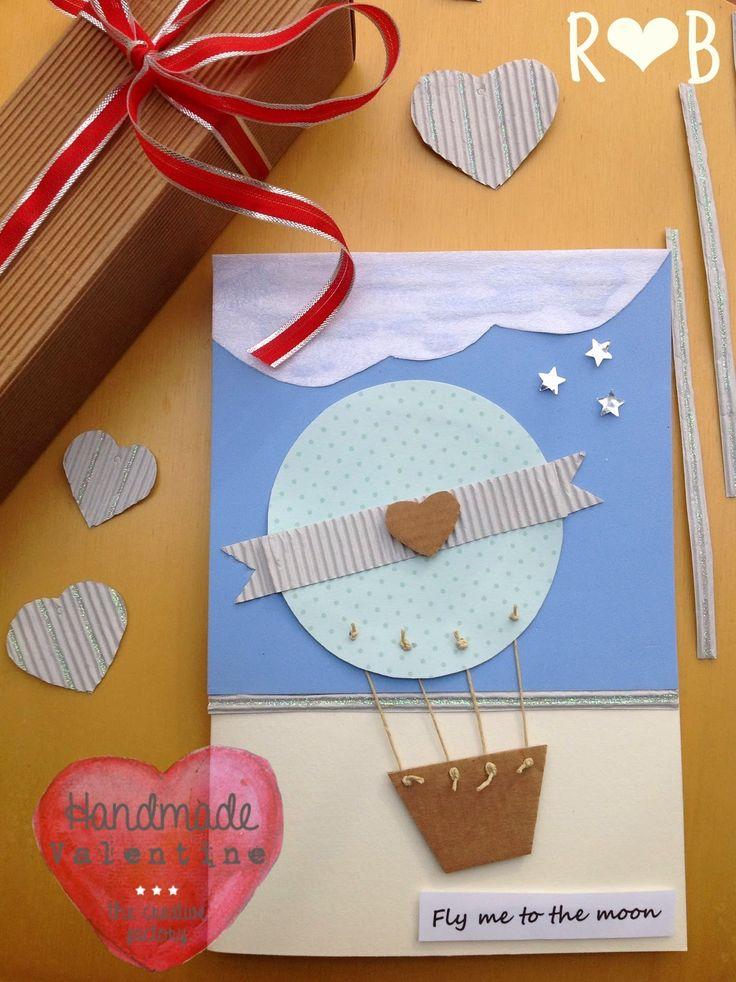 fly me to the moon Valentine card - Biglietto per San Valentino - #thecreativefactory  #handmadevalentine