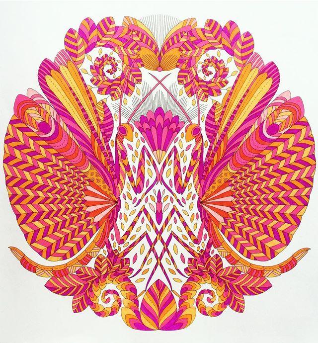 #milliemarotta #adultcolouring #colouringbook #colouringinforgrownups #art #colour #color #illustration #staedtler #mystaedtler #ink #pen #pens #curiouscreatures