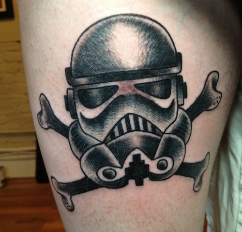 Stormtrooper Jolly Roger done by Cynthia Rudzis at Cirque Du Rouge.