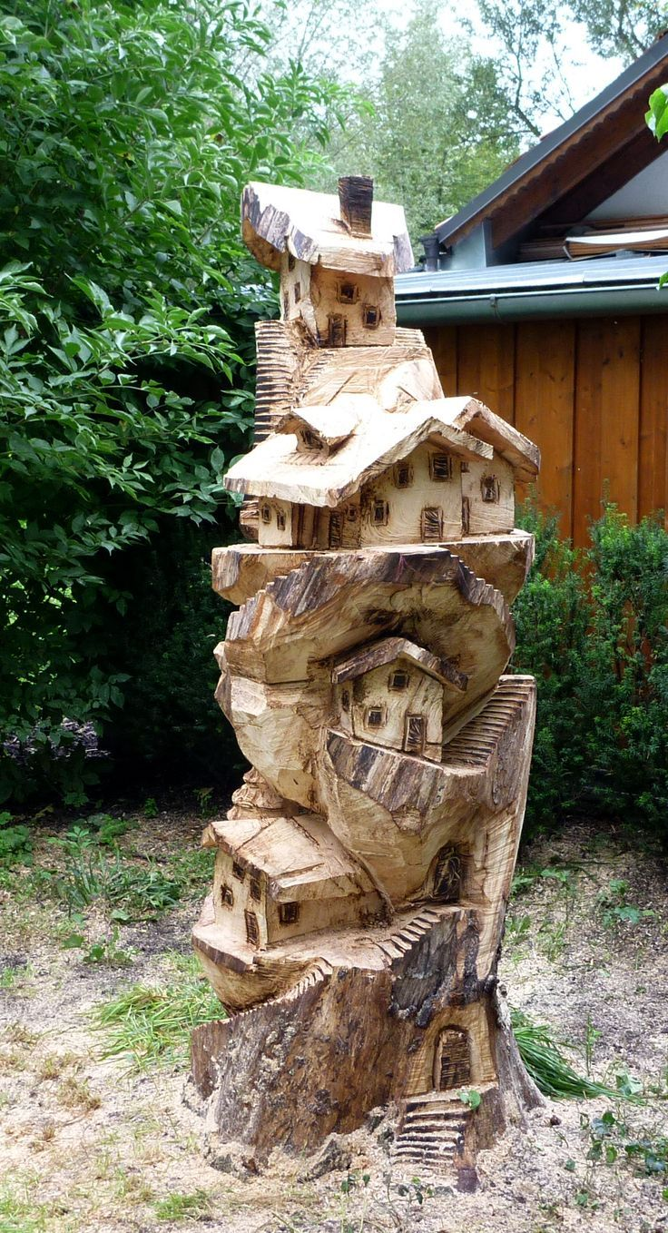 Tree village carving. Excel in the area of your interest.