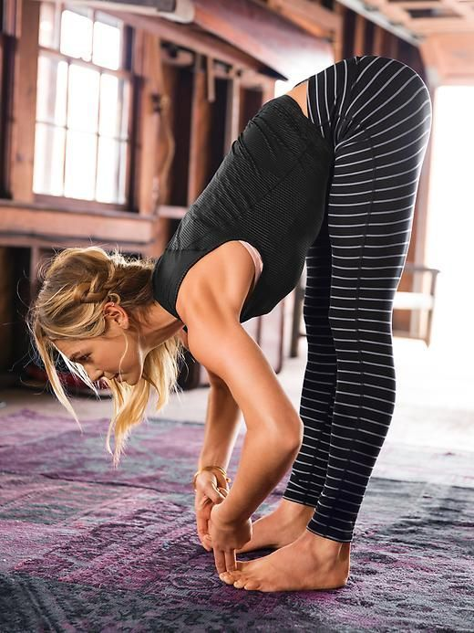Stripes Chaturanga Tight   great for yoga and studio workouts