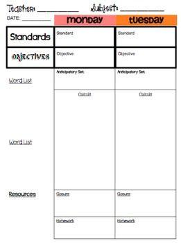 Best Lesson Plans Images On Pinterest Lesson Plan Templates - Otes lesson plan template