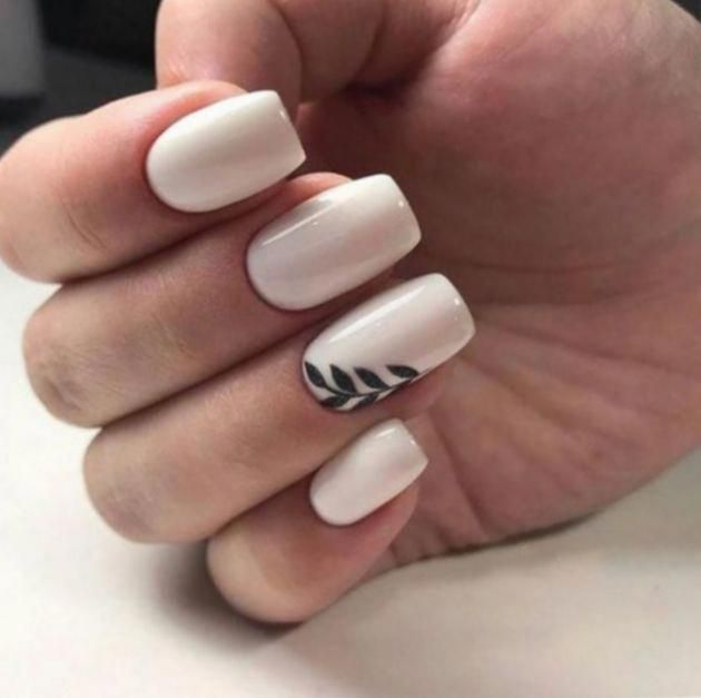 Wedding Nail Polish Designs In 2020 With Images White Acrylic Nails Square Acrylic Nails Acrylic Nail Designs