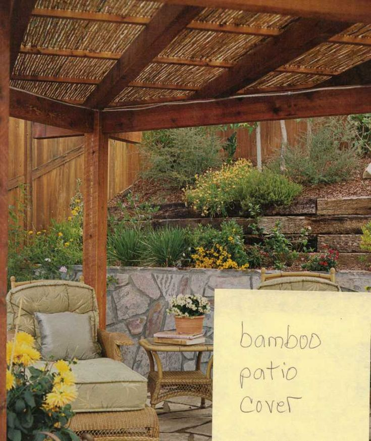 Image detail for bamboo patio cover pergola ideas for Bamboo ideas for backyard