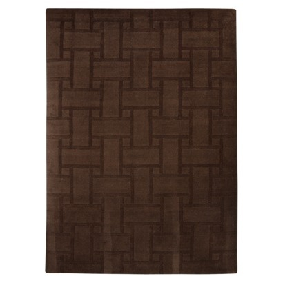target home carved wool rug brown