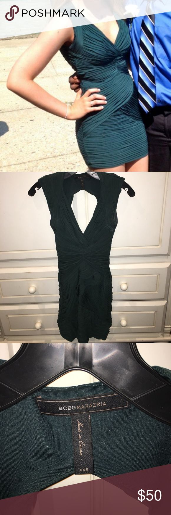 Tight fitted cute dress! Cute fitted dress!! Wore for graduation so comfortable. Not really an XXS usually a S but this fit because it was so stretchy!! BCBGMaxAzria Dresses Mini