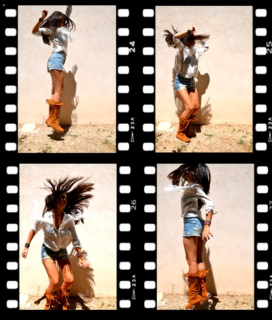 Botas flecos inspiración indios y vaqueros. Have fun!