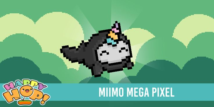 Miimo Mega Pixel from #HappyHop! @PlatonicGames https://itunes.apple.com/app/id1087482860 | platonicgames.com