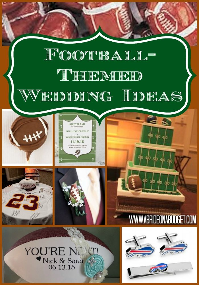 football themed wedding ideas a bride on a budget budget saving blog posts pinterest wedding wedding themes and football wedding
