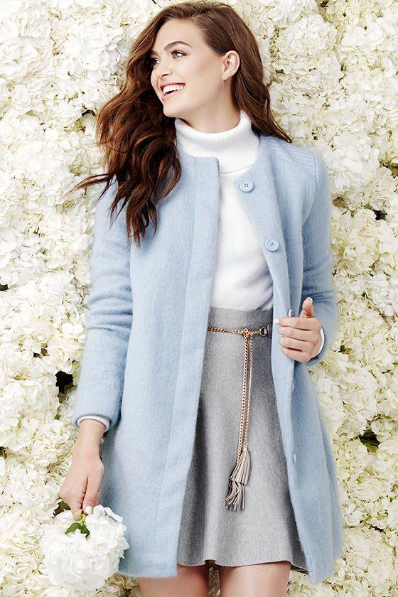 light blue winter style
