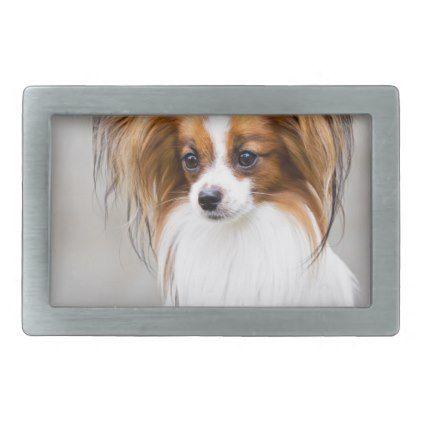Portrait of a papillon dog belt buckle - portrait gifts cyo diy personalize custom