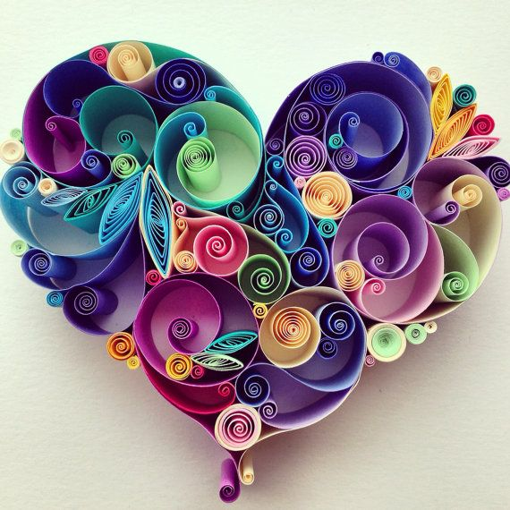 Quilled Paper Art Love is All Around by SenaRuna on Etsy