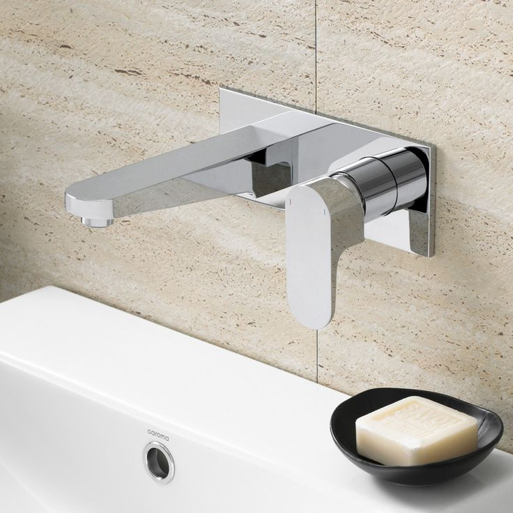 Add the finishing touches with the Caroma Track Wall Basin Mixer - clean, contemporary European design without the European price.