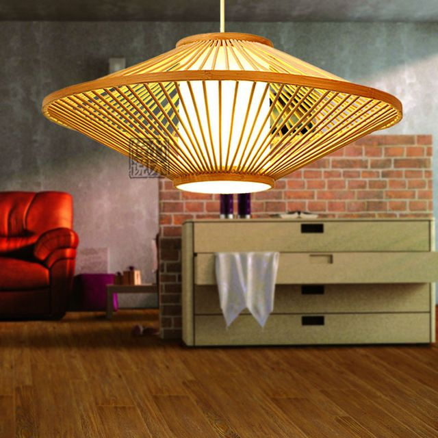 Tissot minimalist dining room den chandelier decorative bamboo Chinese restaurants idyllic bedroom warm lighting fixtures 0073