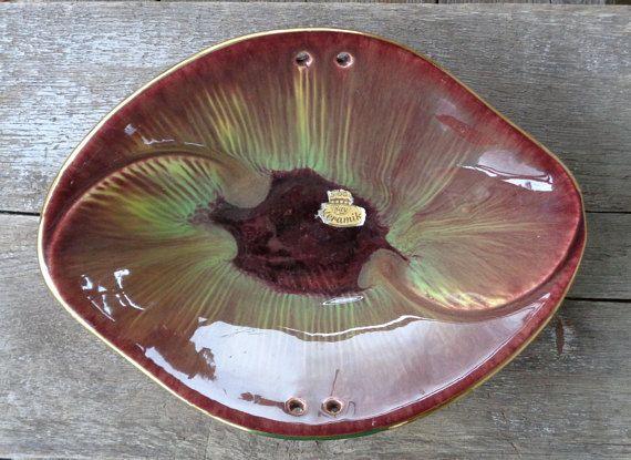 50s Vintage Pottery West German Bay Keramik Bowl 912 Mid