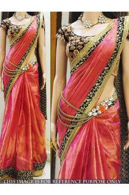 Flaunt your graceful look by draping this peach coloured multi worked paper silk bollywood designer saree #designersaree #sareesonline #papersilksaree #peachsareesonline #ethnicsaress #partywearsarees Shop now- https://trendybharat.com/peach-multy-work-paper-silk-bollywood-designer-saree-tbs107-nx-28?search=ethnic%20saree&page=456