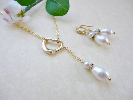 10 OFF  Bridal pearl jewelry set Wedding jewelry set by KeyYoung, $38.70