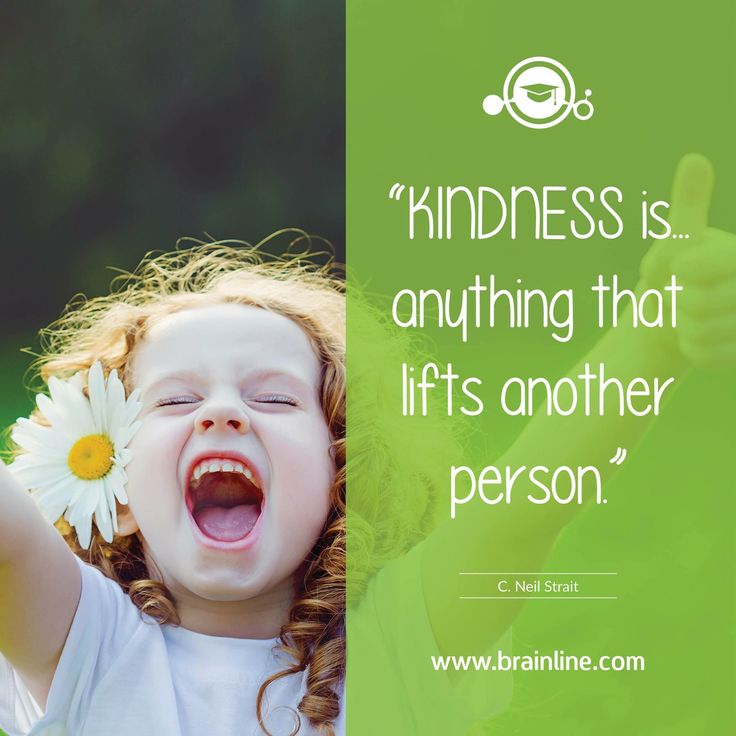 """""""Kindness is... anything that lifts another person."""" C. Neil Strait  #kindness #joy #Friday #grateful #Brainline"""