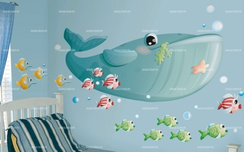 Sticker baleine et son ban de poissons  http://www.idzif.com/idzif-deco/stickers-enfant/stickers-ocean/produit-sticker-baleine-et-son-ban-de-poissons-2327.html?id_article=2327