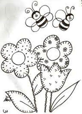 PATCHCOLAGEM-APPLIQUE: BEE