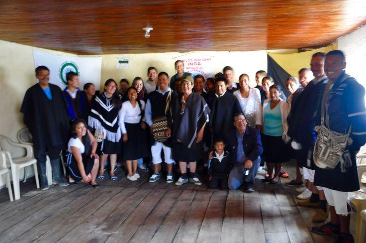 Autoridades indígenas del Resguardo.