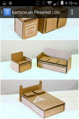 cardboard week - furniture to fit peg dolls (make list of what furniture we still need)