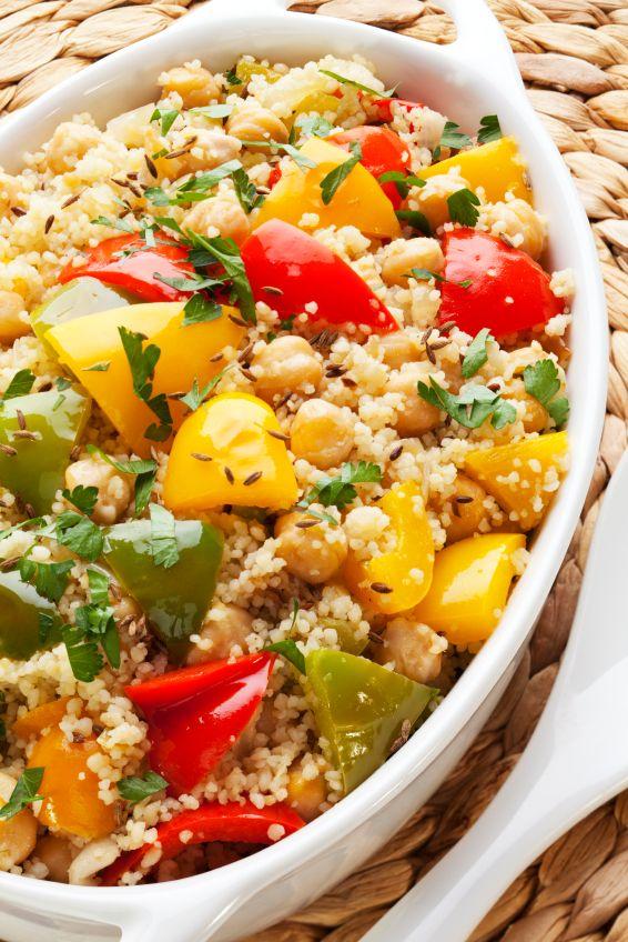 Sałatka z kaszy kuskus i grillowanych warzyw/ Salad with couscous and grilled vegetables www.winiary.pl