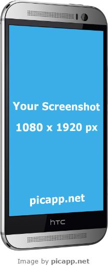 Looking for a cool way to showcase your new android app to the world? Picapp.net has the solution for you! With Picapp.net you can put your screenshot in different device frames without any effort. Picapp.net has a large library with the latest device frame so you can choose the best frame for you. Try it, it's free! #nobackground #htcSilver #mock #htc #HTCOneM8 #picapp