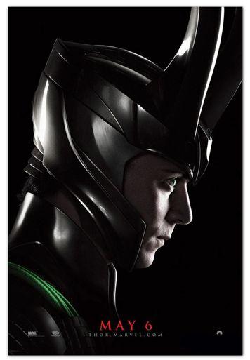 "Original Rare Thor Movie Poster Style A ""Loki""   HW"