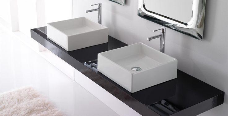#Teorema di @pinterestscarab  è una linea di #lavabi  che traspira contemporaneità. Le forme sono geometriche ed essenziali, lo spazio viene ridisegnato in chiave moderna per garantire un elemento d'arredo funzionale dall'estetica curata. www.gasparinionline.it  #casa #arredamento #bagno #ideas #design #interiors #lavabo #homestyle