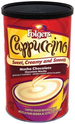 Folgers Coffee Ground Cappuccino Mocha Chocolate, 16-Ounce Packages (Pack of 6) - http://bestchocolateshop.com/folgers-coffee-ground-cappuccino-mocha-chocolate-16-ounce-packages-pack-of-6/