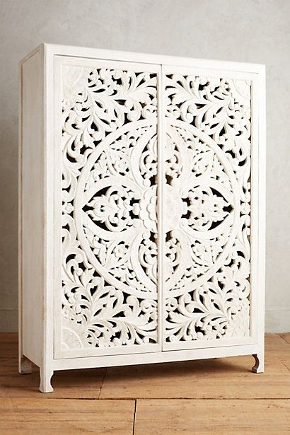 Lombok Armoire #anthropologie i like how this mimics the wallpaper