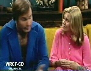 Dr. Alan Stewart (Gil Gerard) and his wife, Margo (Mary Denham):