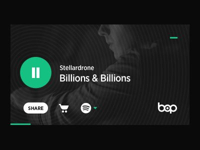 This an embed player for Bop. Here's a video we put together to  demonstrate our vision of UX for the UI.  The player had to accommodate various services into a simple and compact design. Developme...
