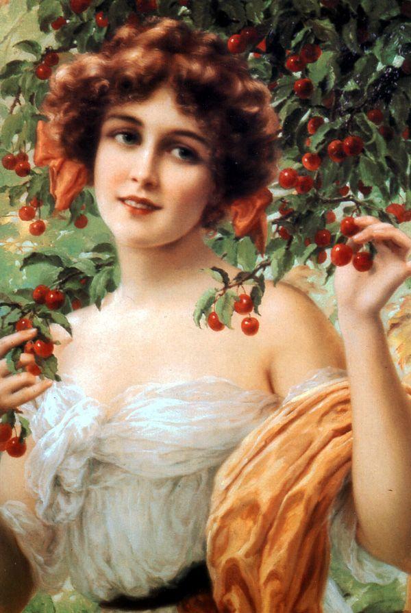 Emile Vernon - Under the cherry tree  #cherries art